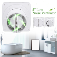 12W 4/6 inch Home Bathroom Kitchen Bedroom ToiletLow Noise 220V Ventilator de techo Fan Hotel Wall Silent Extractor Exhaust Fan
