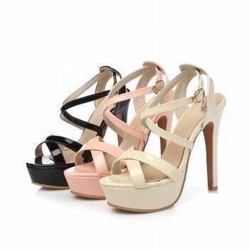 Super Big Size 32-48 Gladiator Sandals Women Sandals Sexy Open toe Summer Shoes Woman High Heels Sandals Platform Summer Style 6