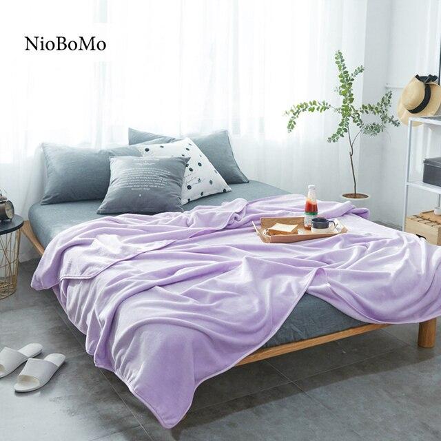 Niobomo Lilac Blanket Elegant Comfortable Throws Coral Fleece Bedspread For  Sofa/Bed/Home 5
