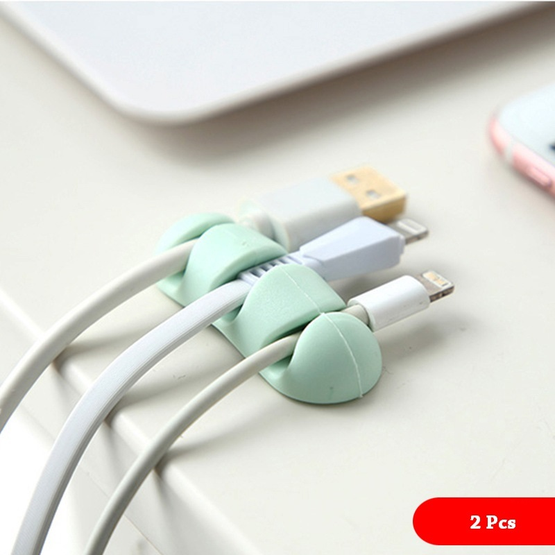 Fashion multicolor Cable Winder Earphone Organizer Wire Storage Silicon Charger Holder Clips winder
