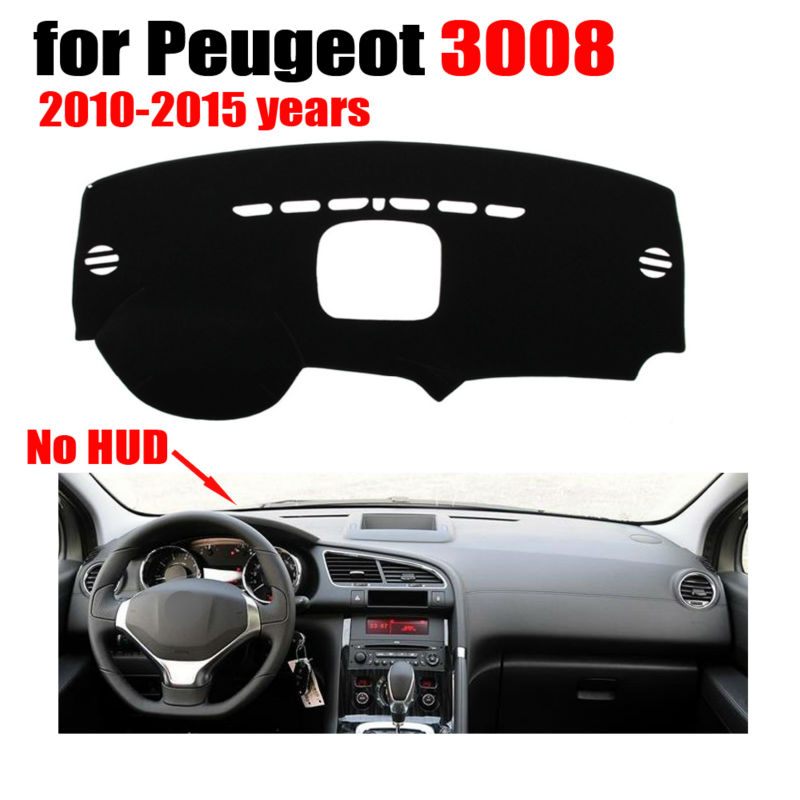 Car dashboard covers mat for Peugeot 3008 Low configuration 2010-2015 Left hand drive dashmat pad dash cover auto accessories