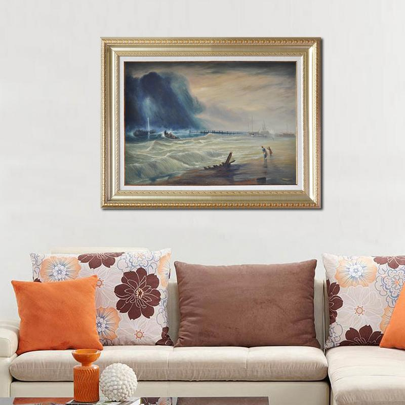 100 handmade oil painting painting on canvas for Sea house decor