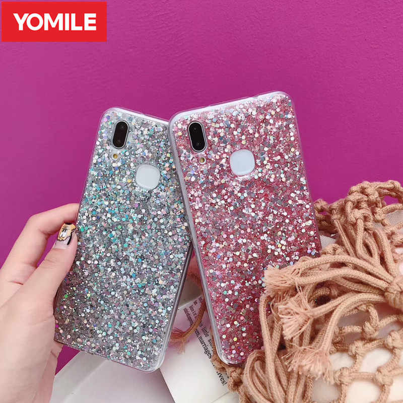 YOMILE Phone Case For Huawei P8 P9 2016 2017 P10 P20 Lite Pro P Smart Plus Glitter Cover For Huawei Mate 10 20 Lite Pro Capa