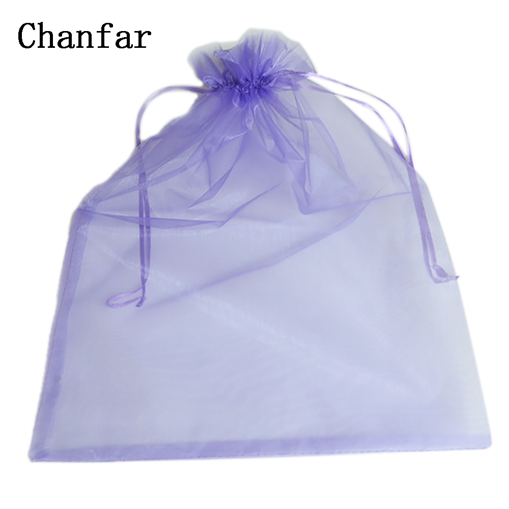 100pcs/bag 30*40cm 35x50cm Organza Bags White Jonquil Pink Purple Blue Gold Gift Bags & Pouches
