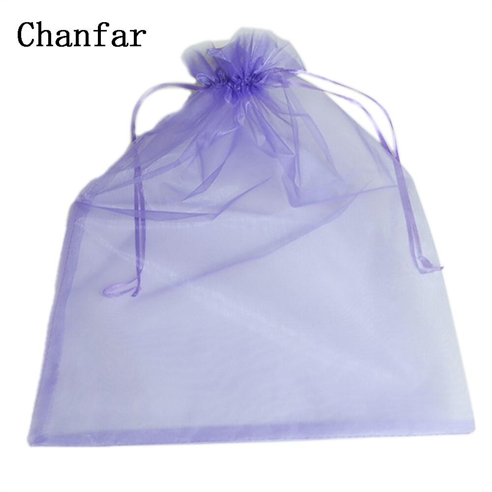 100pcs/bag 30*40cm 35x50cm Organza Bags White Jonquil Pink Purple Blue Gold Gift Bags & Pouches