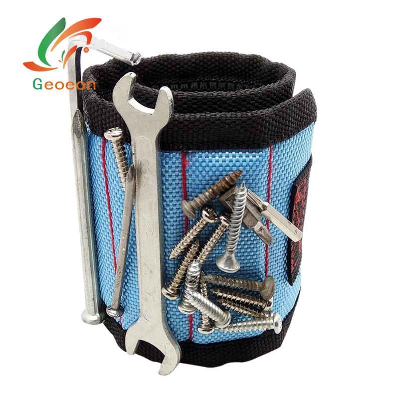 Geoeon Magnetische Handgelenk Unterstützung Werkzeug Tasche Elektriker Handgelenk Werkzeug Gürtel Schrauben Nägel Bohren Bits Halter Reparatur Werkzeuge D30 Werkzeug Organisatoren