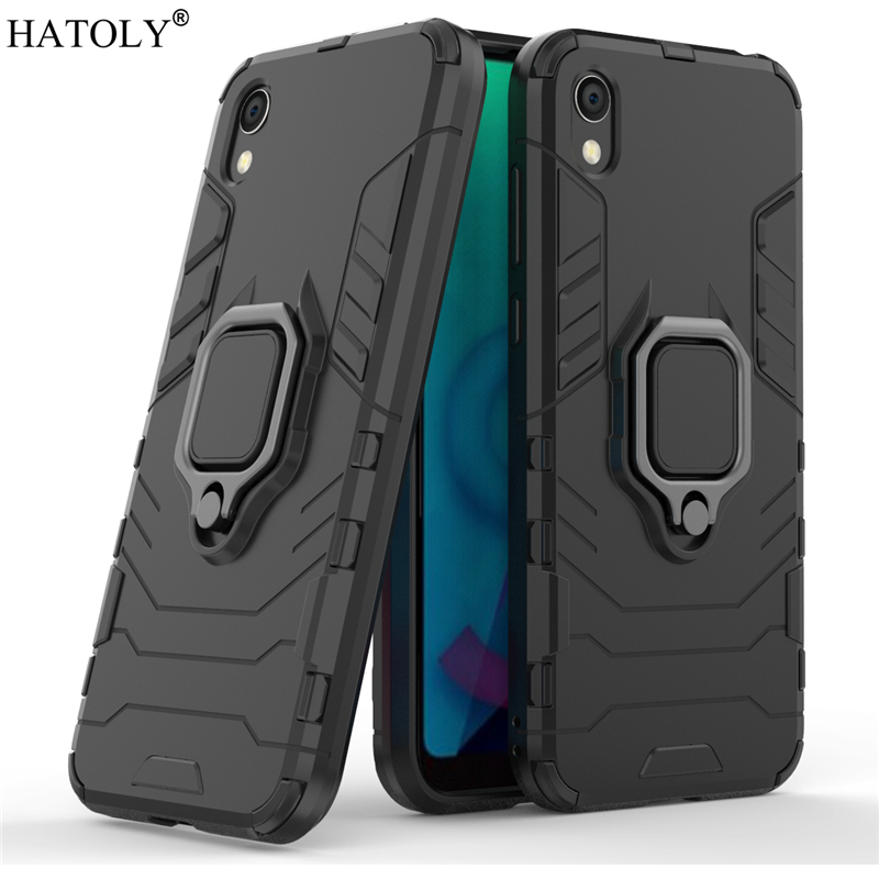 For Huawei Honor 8S Case Cover for Magnetic Finger Ring PC Phone Protective Hard Armor