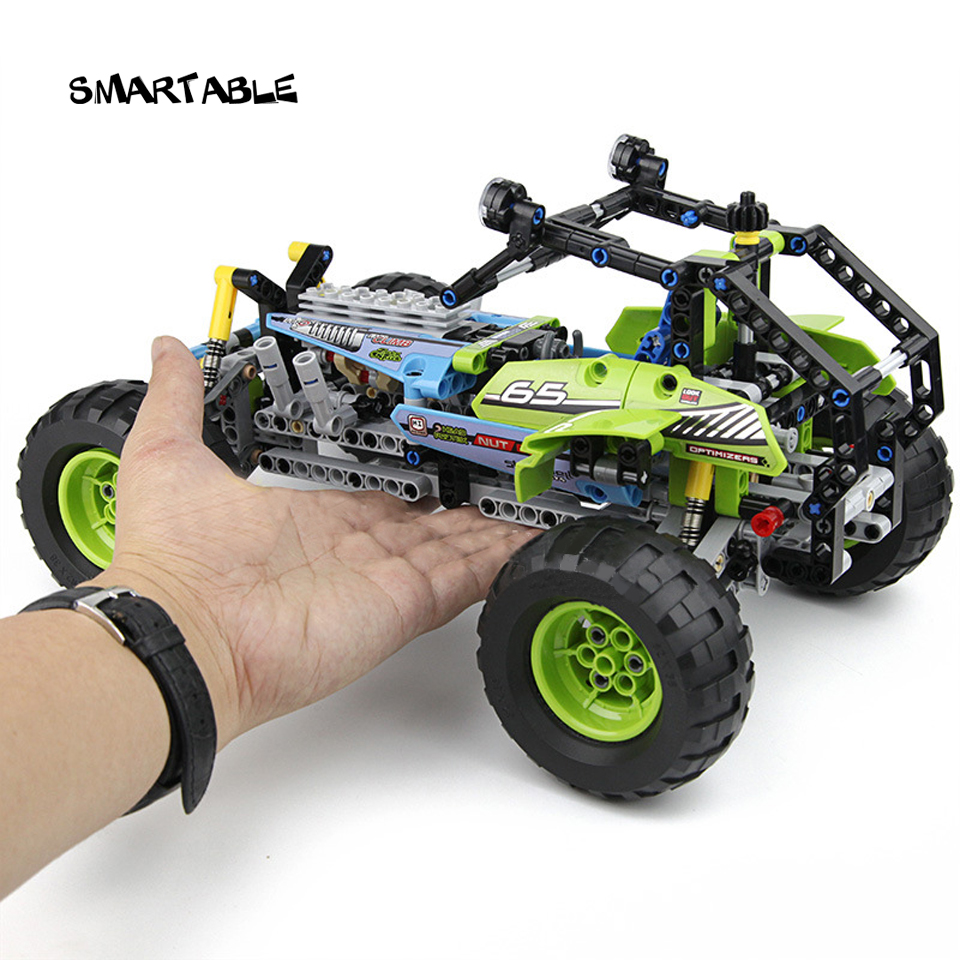 Smartable Technic series 2-in-1 Formula Off-Roader Car Building Blocks Brick Toys Compatible Legoed Technic City Gift 494pcs/set loz smartable technic series red excavator diy building brick blocks toys compatible with legoingly technic car gift toy to kid