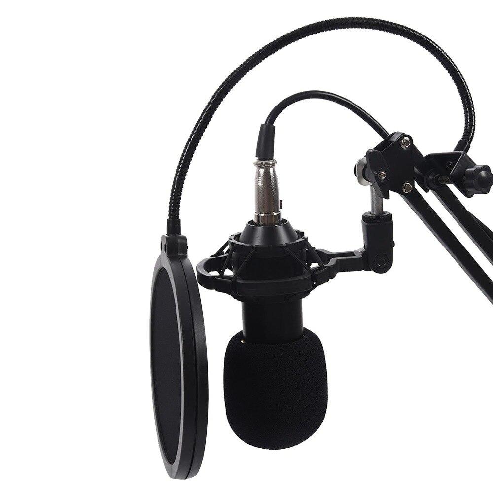 BM800 Condenser Microphone mic Hanging mic Kit Studio Suspension Boom Scissor Arm Sound Card colour Black Gold Blue Pink White