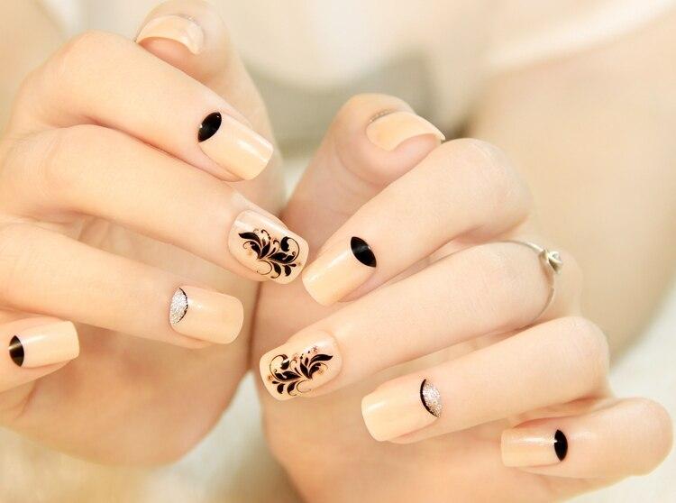 Artificial Nail Tips Genteel 500pcs French Style Purity Uv Gel Acrylic False Nail Art Tips