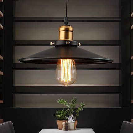Настенный светильник в стиле лофт, винтажный промышленный Ретро подвесной светильник, E27 держатель, железный ресторанный барный счетчик, Чердачный светильник для книжного магазина