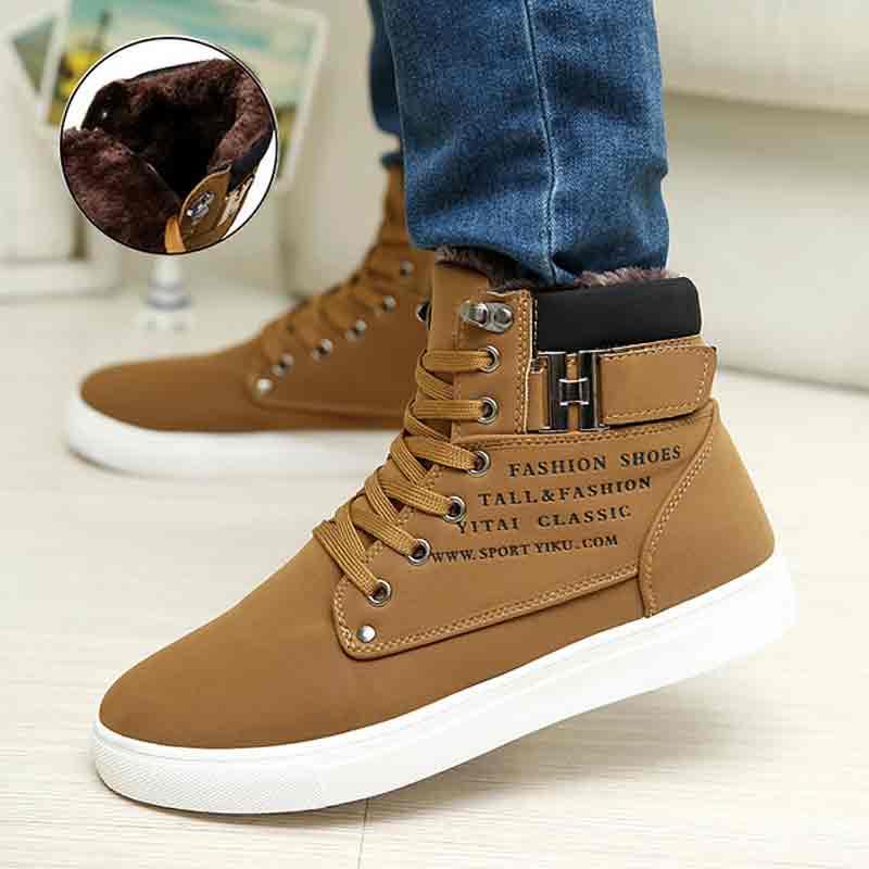 Shoes Men Athletic Warm Chaussure Homme Comfortable Winter Plus-Size