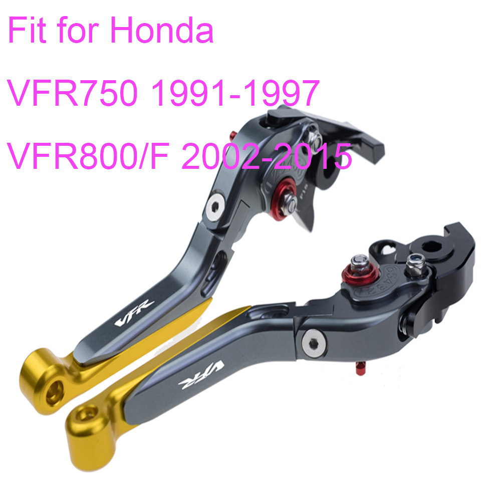 KODASKIN Left and Right Folding Extendable Brake Clutch Levers for Honda VFR750 1991 1997 VFR800 F 2002 2015 in Levers Ropes Cables from Automobiles Motorcycles