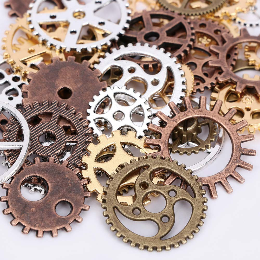 Mixed Vintage Styles Metal Alloy Mechanical Steampunk Cogs & Gears DIY Jewelry Charms Watch Parts Accessories Making Craft Arts