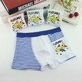 2017 de alta qualidade 4 pçs/lote meninos filhos de underwear crianças cuecas desenhos animados calcinha menino boxer crianças roupa calcinhas infantis