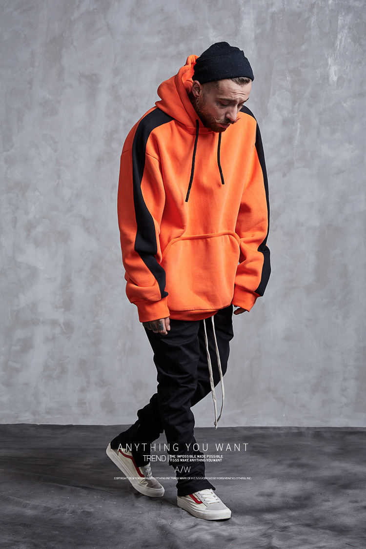 Aolamegs Hoodies Men Side Striped Hood High Street Pullover Cotton Fashion Hip Hop Streetwear Casual Big Pocket Hoodie Autumn (15)