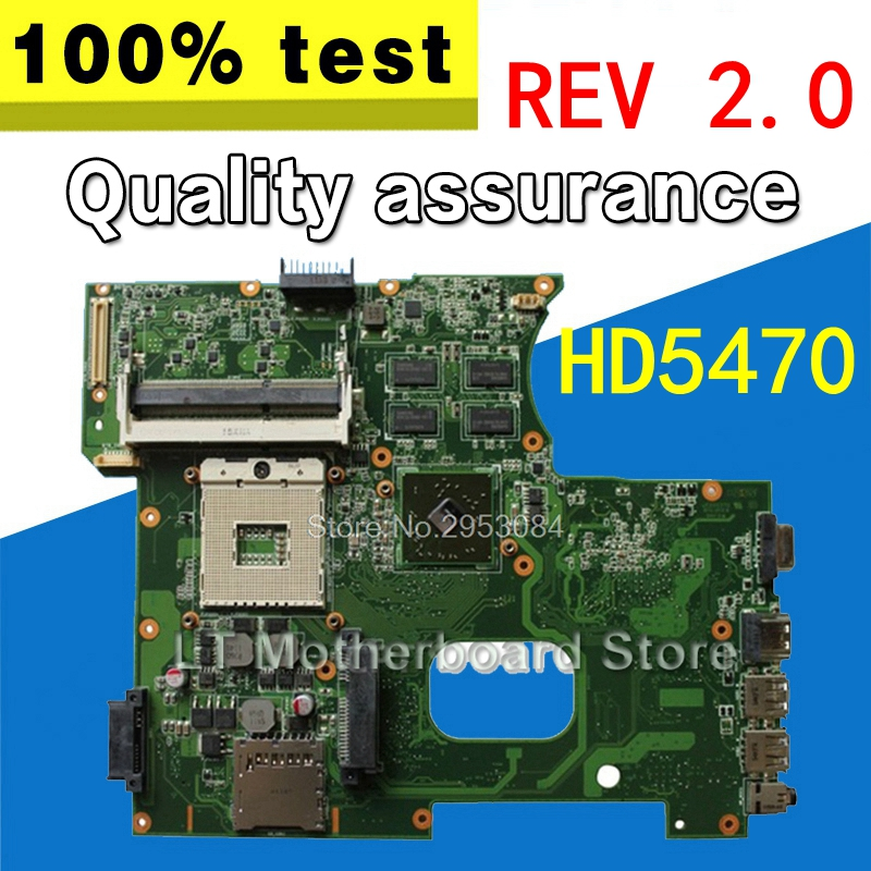 send fan + K42JR REV 2.0 HD5470 1GB Motherboard For ASUS A42J K42J X42J A40J K42JE laptop Motherboard K42JR mainboard 100% Ok цена