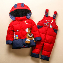 New Girls Boys Winter Down coat and pant suit Kids Snow Outerwear Jacket For Girls Boy