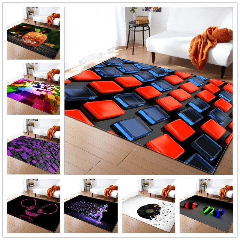 2018 nouveaux tapis d'impression 3D pour tapis de salon bébé chambre jouets jeu ramper zone tapis/tapis chambre d'enfant décor à la maison Rectangle tapis