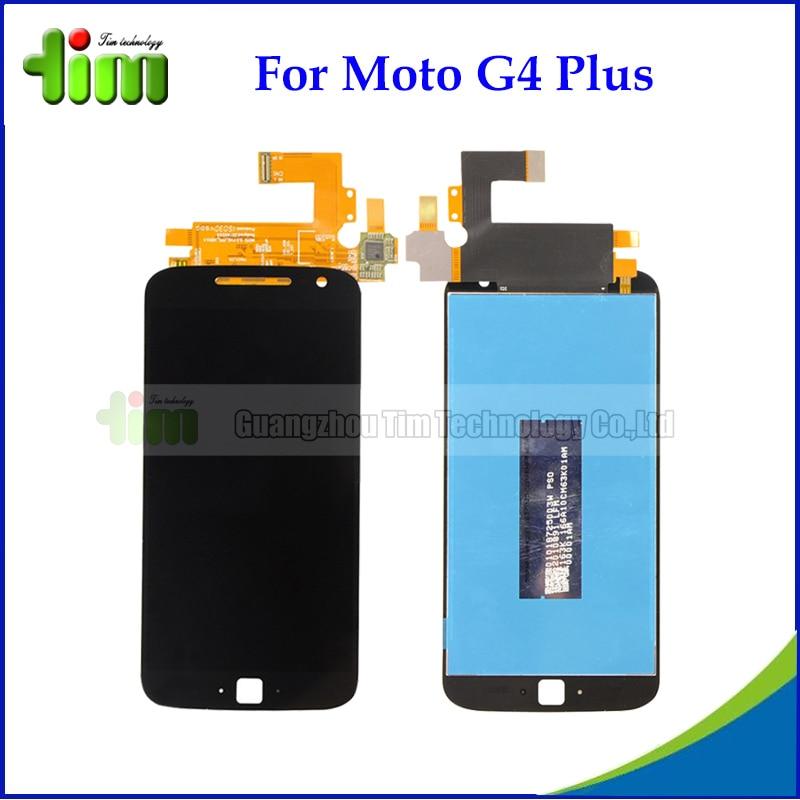ФОТО 5pcs New Original Smartphone LCD Repair Parts For Motorola Moto G4 Plus XT1644 LCD Display Touch Screen Digitizer Assembly
