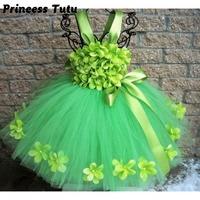 Pageant Spring Green Flowers Girl Tutu Dress Children St Patrick S Day Dress Girls Birthday Holidays