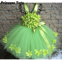 Pageant Spring Green Flowers Girl Tutu Dress Children St Patrick S Day Dress Girls Birthday Holidays