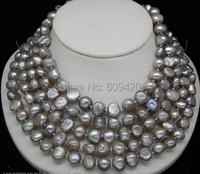 Free Shipping >>>Excellent 9mm baroque pearl jewelry Necklace 100 Long