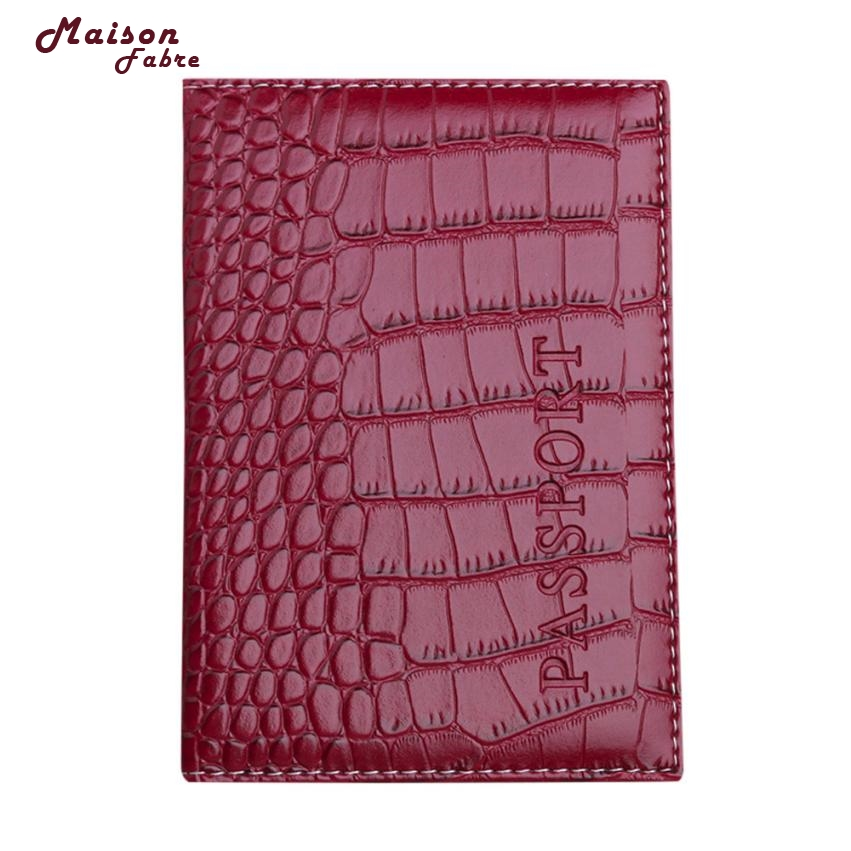 Maison Fabre 2018 Passport Holder Protector Wallet Business Card Soft Passport Cover Leather Dropshipping Mar13 thinkthendo new male genuine cow leather wallet card package retro woven passport business cards holder