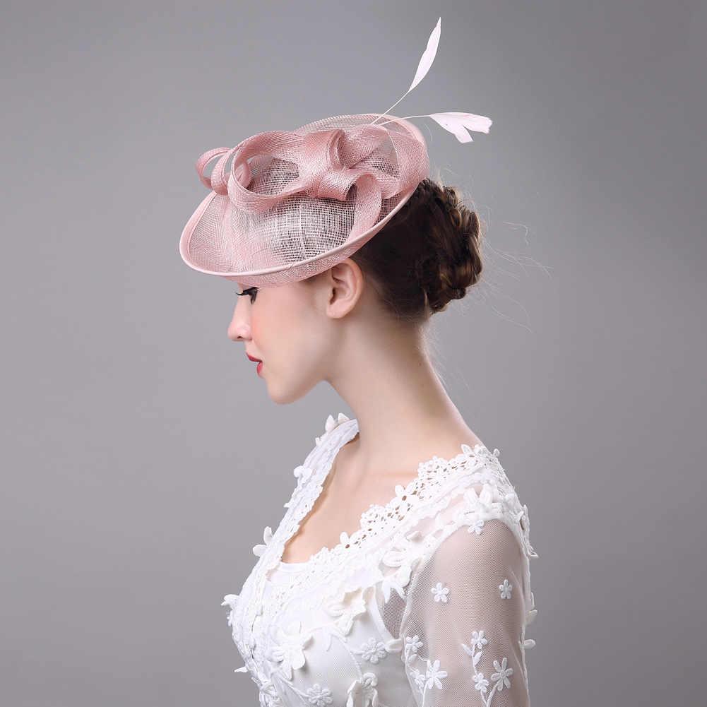 100% Handmade Bow Feather Headwear Wedding Vintage Pillbox Hat With Veil Lepoard Bowknot Gauze Patchwork Fedora Woman Felt Cap