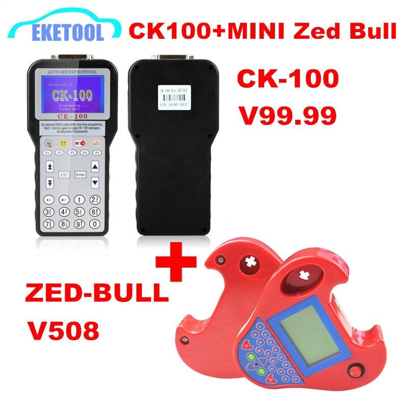 Meilleure qualité CK100 V99.99 SBB V48.99 V48.88 SBB PRO2 V48.88 pas de jetons limité et MINI Zed Bull V508 multi-langues multi-voitures