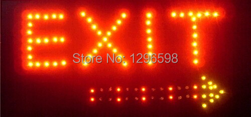 2017 Direct Selling custom Graphics indoor flashing 10X19 inch exit sign of led-