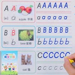 Angielski numer rysunek zeszyt ponownie użyty ręczne pisanie okrągły ręczny rowek szkolenie kopiowanie auto zanika dla dzieci dzieci 5 7 lat na