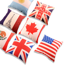 Home Decorative Sofa Throw Pillows Thick cotton and linen printed rice flag pillow Cushion Cover Pillow Cover Pillow Case