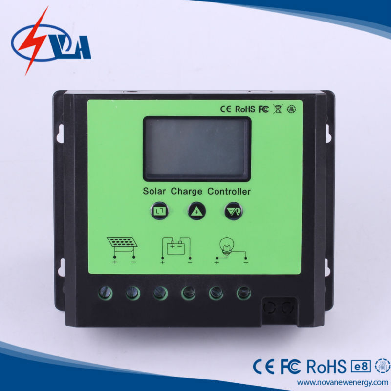 ФОТО 60A Solar Controller Panel Battery Charge Controller 12V24V Solar System Home Indoor Use PWM Solar Charge Controller LCD Display