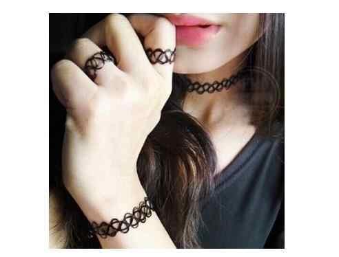 C059 ยอดนิยม lady บุคลิกภาพบุคลิกภาพสร้อยคอและยืดหยุ่น fishline ส่วนบุคคล tattoo สร้อยข้อมือ/แหวน