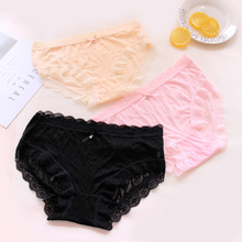 af1bfde59 8 colors Sexy Lace Panties Soft Breathable Briefs Women Underwear Ladies  Panty Transparent Tempting Low-