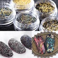 New 12 Boxes 12 Colors Mini Nail Art Beads Japanese Style Nail Art Caviar Beads DIY