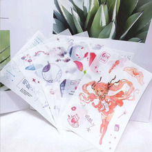 6 Twelve Flower God Constellation Girl Hand-Painted Decorative Diary Flower Plant Student Stickers Scrap booking Diy Stationery