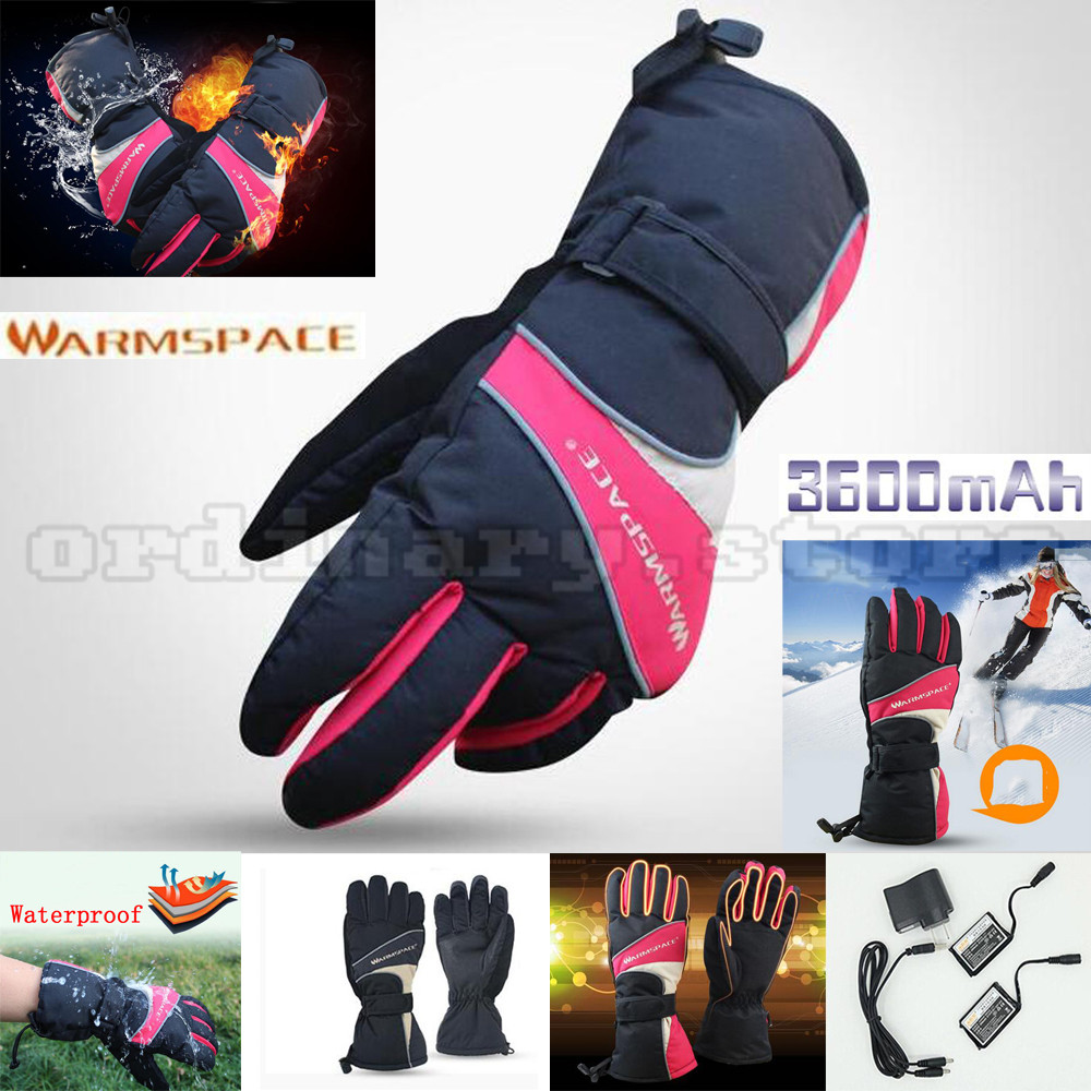 3600mAh Rechargeable Battery Electric Heated Warm Glove Winter Outdoor Cycling Work Ski Warmer Motorcycle Gloves Waterproof 1 pair 4000mah rechargeable battery with smart switch on off electric heated warm glove winter outdoor work ski warmer gloves