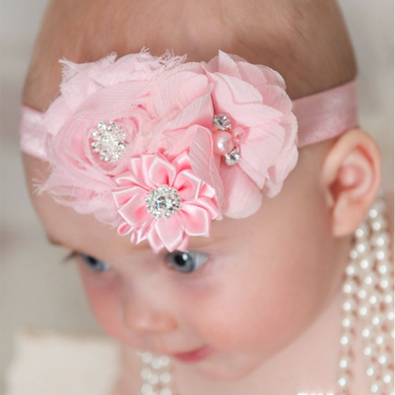 TWDVS Newborn Flower Hair Band Kids Flower Elasticity Hair Accessories Ring Flower Headband W037 hot sale hair accessories headband styling tools acessorios hair band hair ring wholesale hair rope