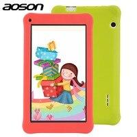 ציור חינוך הילדים Tablet עם מקרה tablet Aoson 7 Inch 1 GB 16 GB Quad Core HD אנדרואיד 6.0 Tablet 1024*600 עם תוכנת ילדים