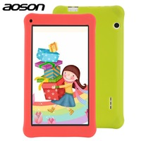 Bildung zeichnung tablet Aoson 7 Zoll Kinder Tablet mit fall 1 GB 16 GB Quad Core HD Android 6.0 Tablet 1024*600 mit Kids Software