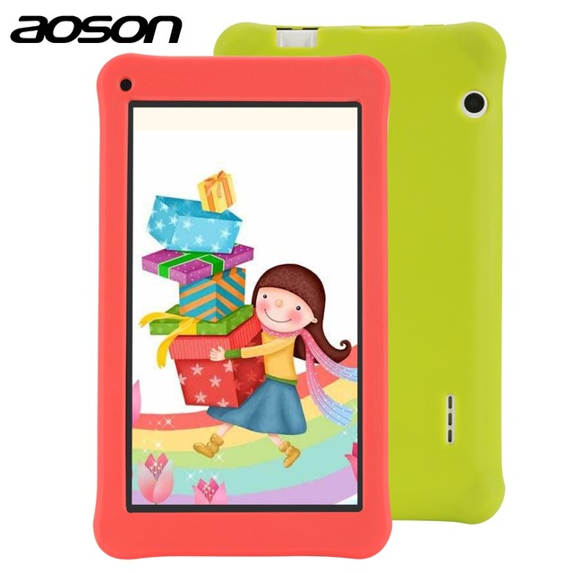 Education drawing tablet Aoson 7 Inch Kids Tablet with case 1GB 16GB Quad Core HD Android 6.0 Tablet 1024*600 with Kids Software