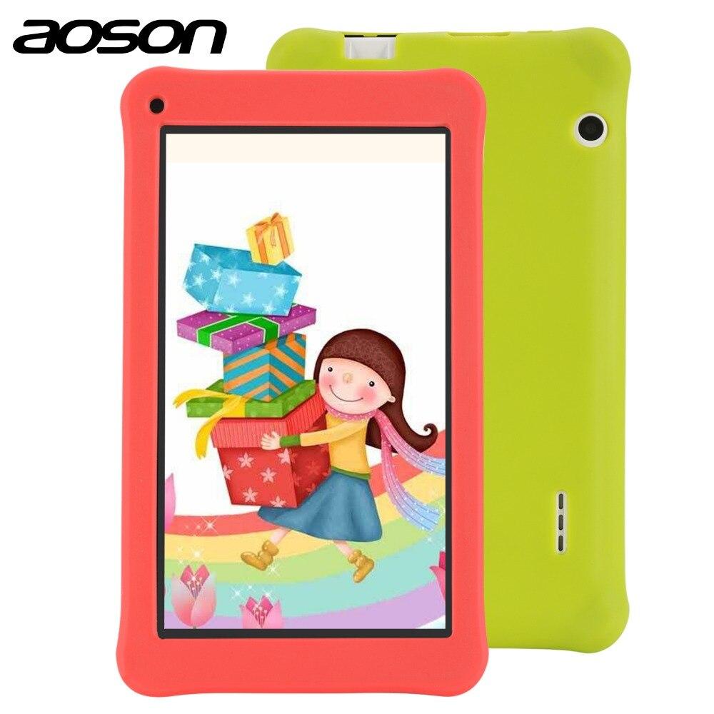 Планшет aoson 7 дюймов с чехлом 1 ГБ 16 ГБ четырехъядерный HD Android 7,1 планшет 1024*600 с детским программным обеспечением