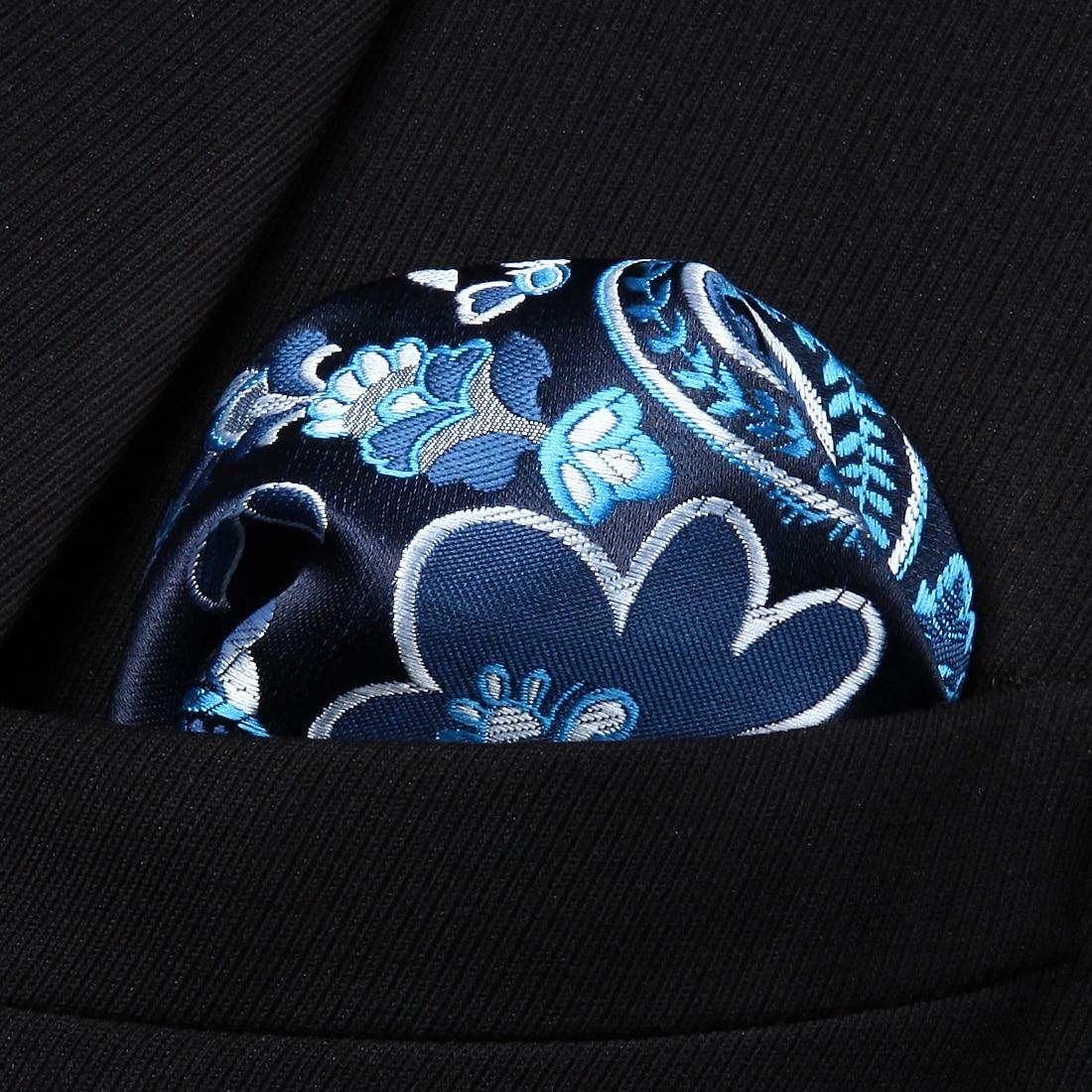 HP928V Navy Blue Pink Paisley Men Silk Party Handkerchief Pocket Square Hanky