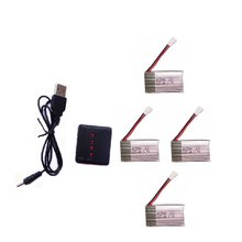 Syma X5C battery 3.7V 600mAh 25C Lipo Battery Sets with 4 In 1 Battery Charger for Syma X5 X5C Parts