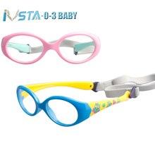 f20fa3ad10 IVSTA con correa de 0 a 3 años gafas de bebé pequeñas para niños gafas TR90 monturas  de gafas de silicona para niños ópticas mar.