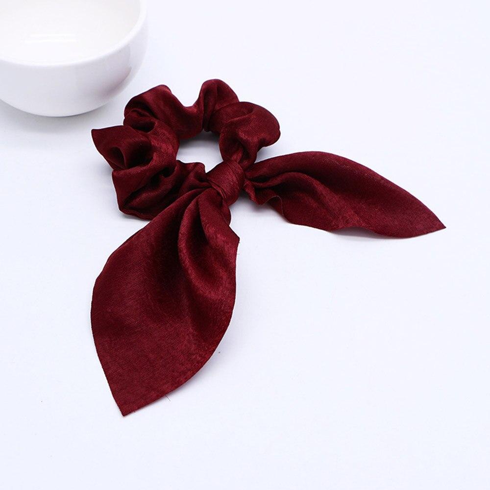 Nouveau mousseline de soie Bowknot élastique bandes de cheveux pour les femmes filles perle chouchous bandeau cheveux cravates élastique pour queue de cheval accessoires de cheveux 28