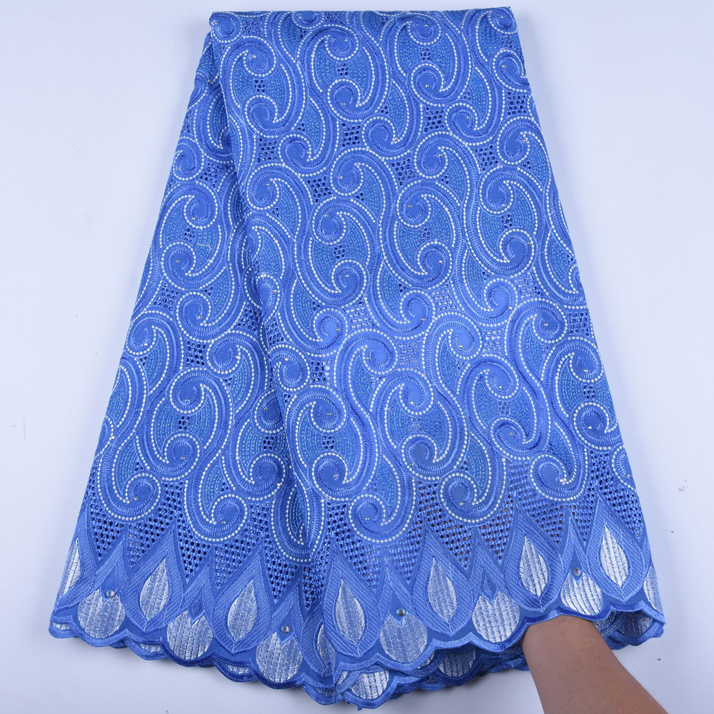 Image 5 - Mens Wear Swiss Voile Lace In Switzerland African French Voile Lace Fabric High Quality Cotton Nigerian Dry Lace Fabric A1602-in Lace from Home & Garden