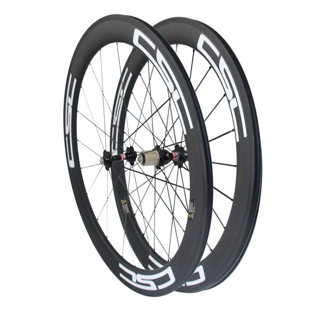 CSC 23mm width 700C 60mm Clincher Wheels Carbon Road Bike wheelset